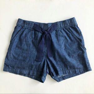 JOE FRESH Blue Chambray Denim High Rise Shorts